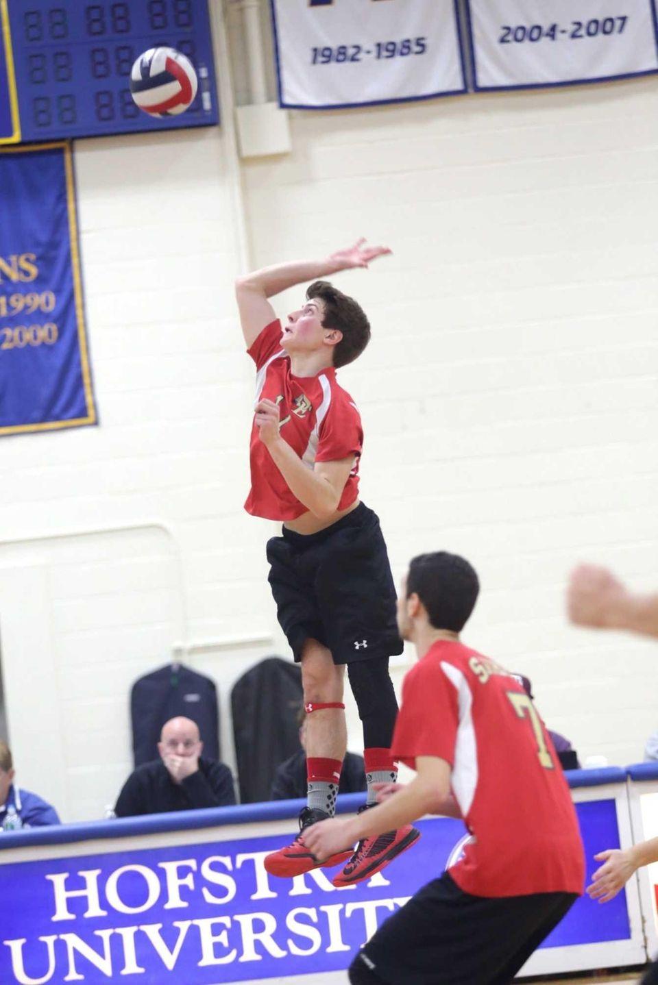 Steve Rodriguez of Sachem East looks to hit