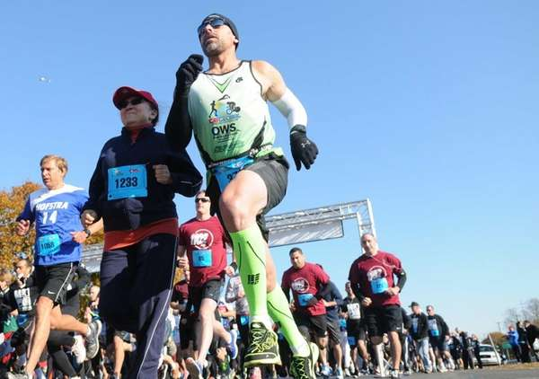 Runners participate in the Long Island Run for