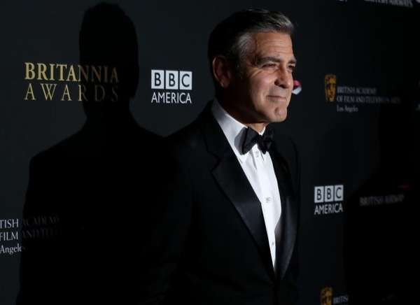 George Clooney arrives at the 2013 BAFTA Los