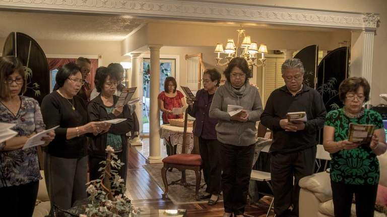Members of the Filipino community gather together for