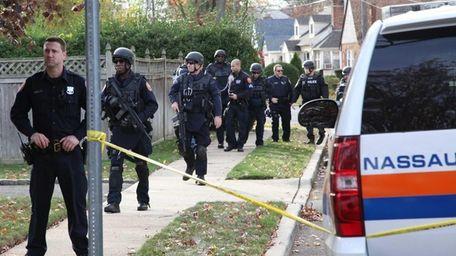 Nassau County police respond to Berkley Street off