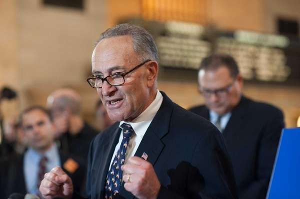 Sen. Charles Schumer announces the Commuter Benefits Equity