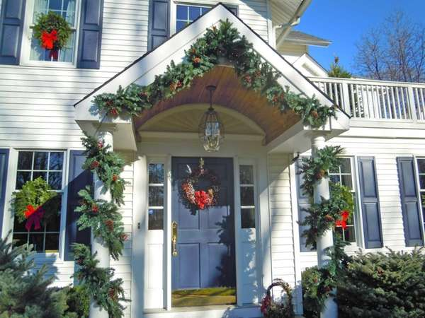 A holiday-decorated home from the Huntington Historical Society