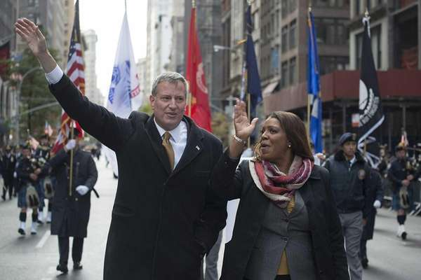 New York City Mayor-elect Bill de Blasio and
