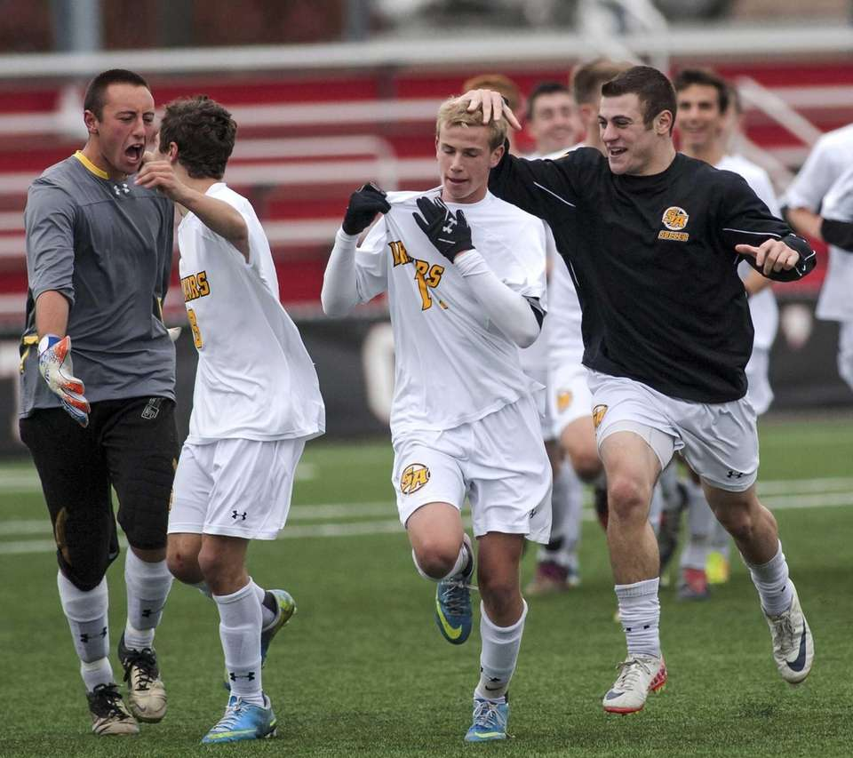 St. Anthony's boys soccer team takes the field