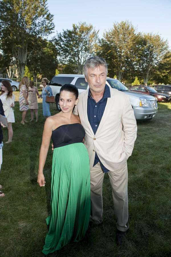 Actor Alec Baldwin and wife Hilaria Baldwin at