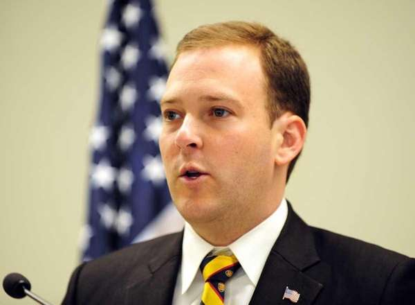 State Sen. Lee Zeldin at a news conference.