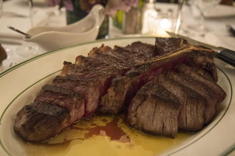 The porterhouse steak for two is highly recommended