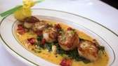 "Seared scallops ""Julia Grace"" is among the top"