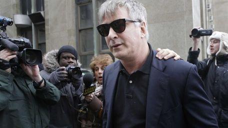 Alec Baldwin leaves criminal court in Manhattan after