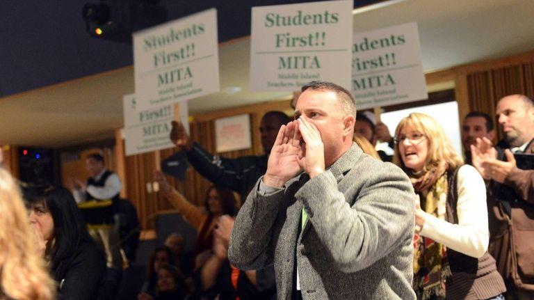 Kevin Coyne, president of the Brentwood Teachers Association,