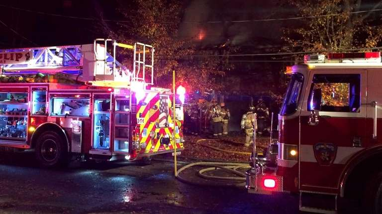 A Bay Shore homeowner and two firefighters were