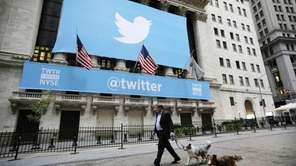 The New York Stock Exchange flew a Twitter