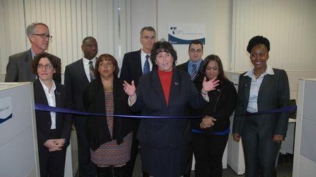 Touro Law Center Dean Patricia Salkin (center) speaks