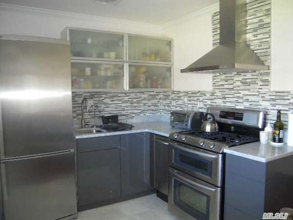 The kitchen in the Glen Cove ranch available