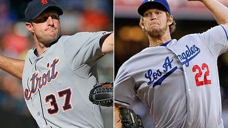 Detroit Tigers pitcher Max Scherzer, left, and Los