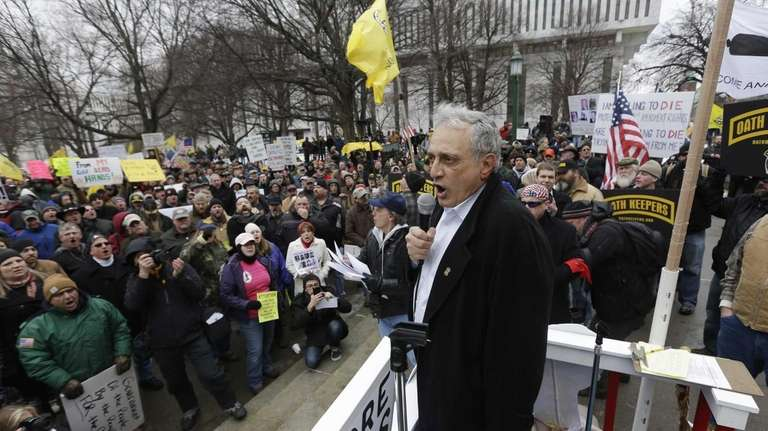 Carl Paladino speaks during a Turn Albany Upside