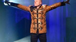Macklemore performs at Madison Square Garden in Manhattan.