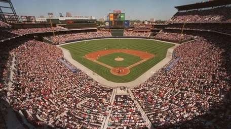 Fans fill the stands as the Atlanta Braves