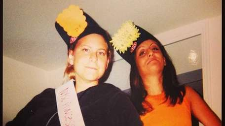 In this 2003 photo, Lauren Selsky, left, crowns