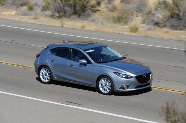 Though the Mazda3 competes in the compact class
