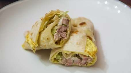The chicken malai wrap, also called a kati