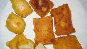 Gabila?s-style potato knish, developed by Lynn Kutner of