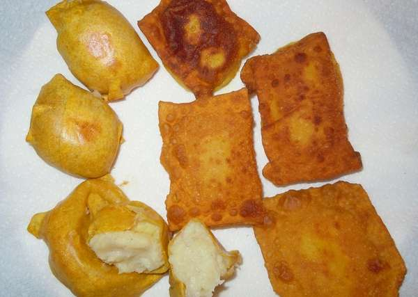 Gabila's-style potato knish, developed by Lynn Kutner of
