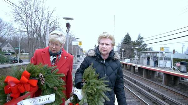 Carolyn McCarthy and Joyce Gorycki are seen in