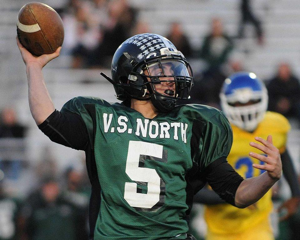 Valley Stream North quarterback No. 5 Joe Ruscillo