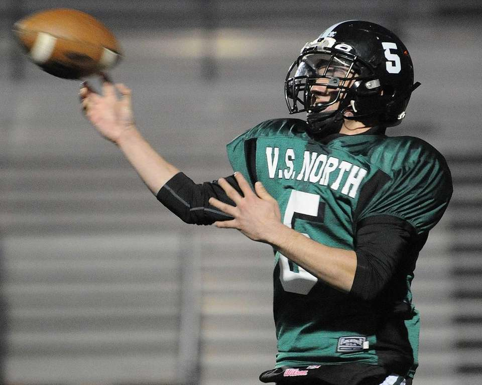 Valley Stream North quarterback Joe Ruscillo throws a