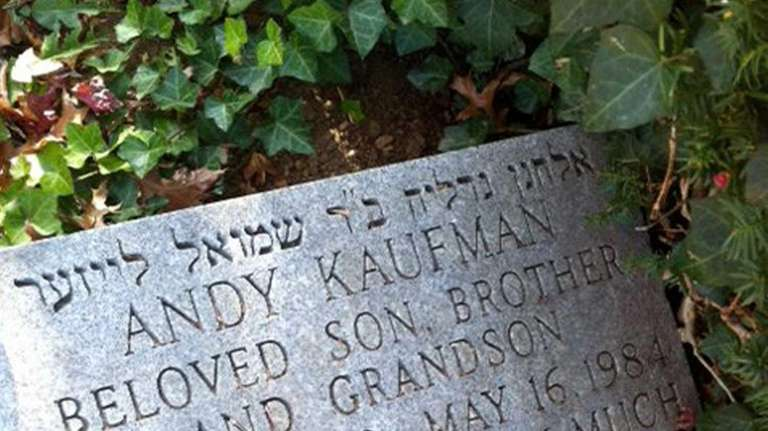 The gravestone of Andy Kaufman at the Beth