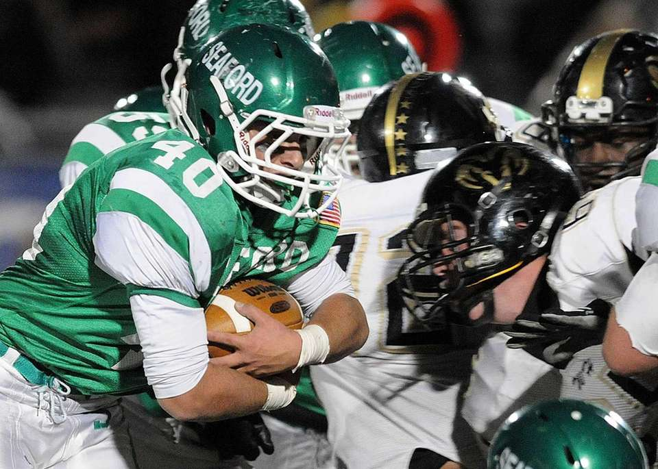 Seaford's Joseph Bongiovi rushes for a gain during