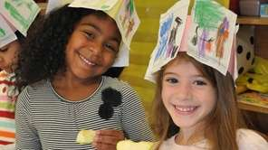 Jaiden Vital and Katerina Kakaounakis, kindergartners at Stewart