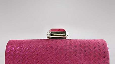 Judith Leiber evening clutches, exotic skin bags, sunglasses