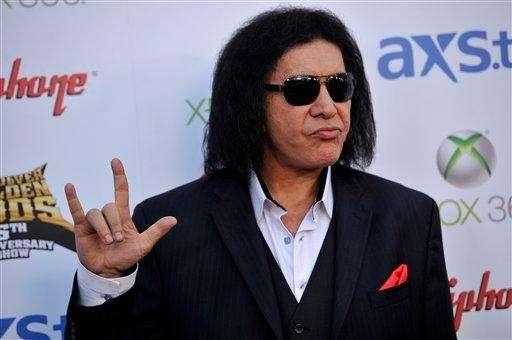 Gene Simmons of Kiss at the 2013 Revolver