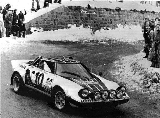 A Lancia Stratos was driven to victory by