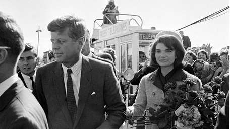 President John F. Kennedy and his wife Jacqueline