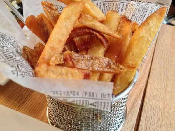 The French fries at Ideal Cheese & Wine