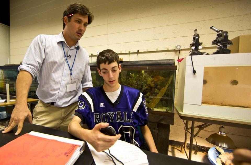 Greg Gorniok, Port Jefferson High School's anatomy teacher,