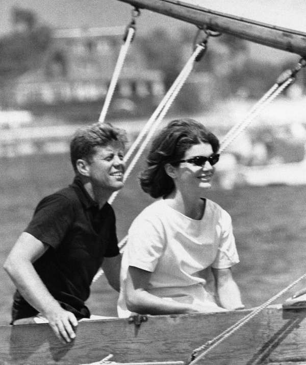 Then Sen. John Kennedy and his wife Jacqueline