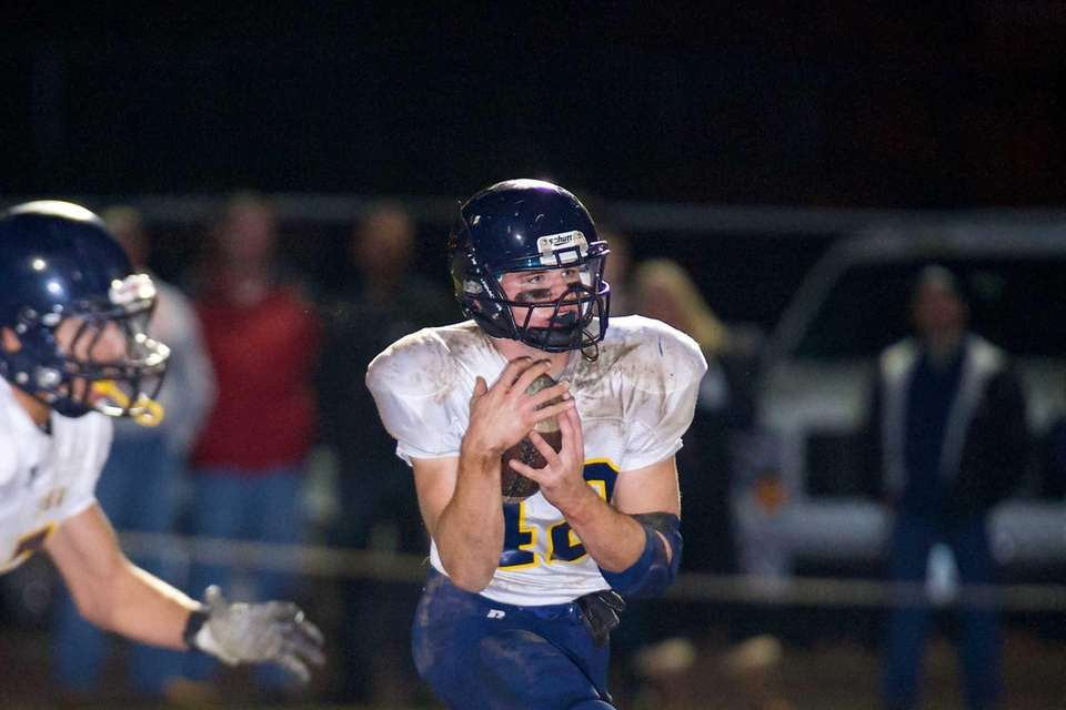 Shoreham Wading-River running back Tyler Anderson returns a