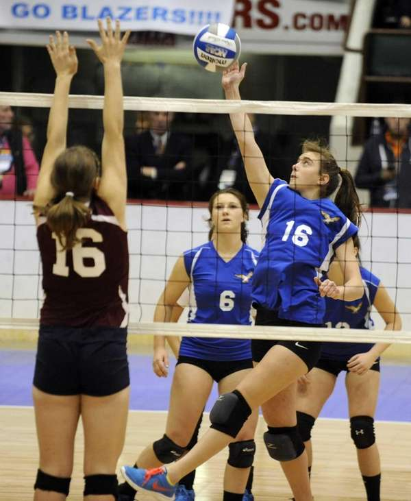 Mattituck's Shannon Dwyer tips the ball over the