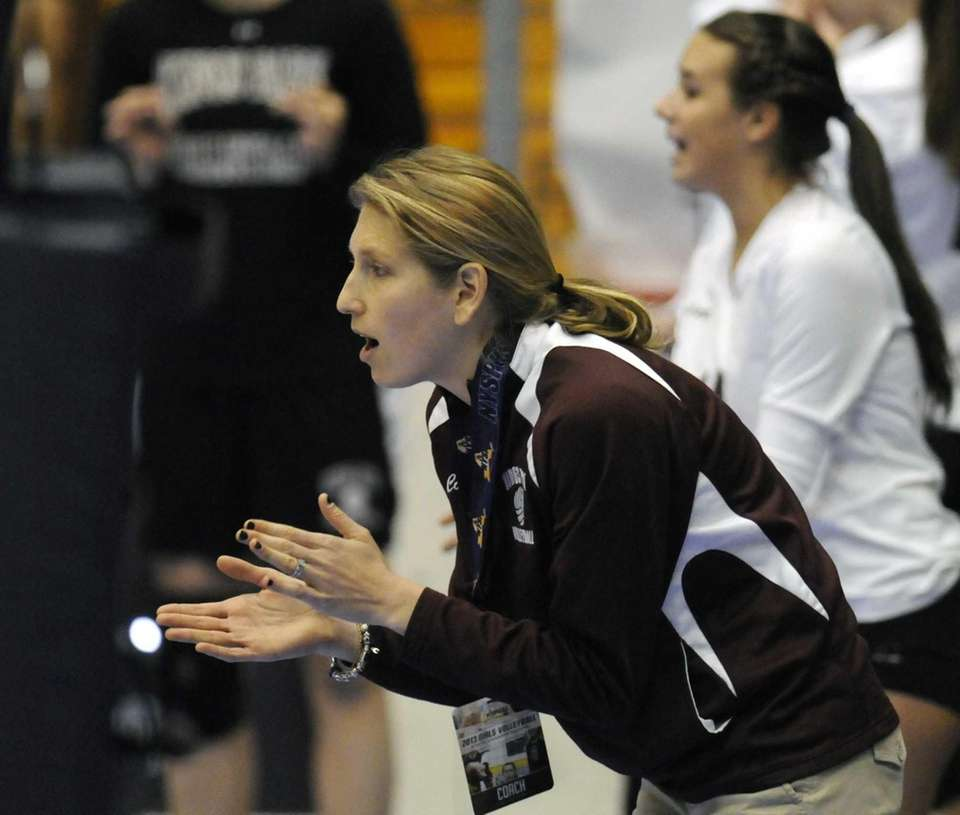 Kings Park's head coach Liz Manly coaches her