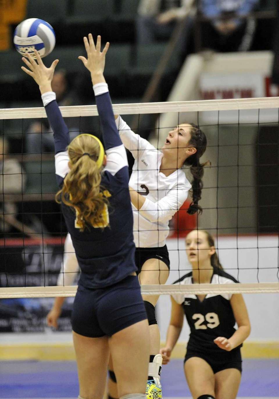 Kings Park's Joelle Goldstein (2) hits the ball