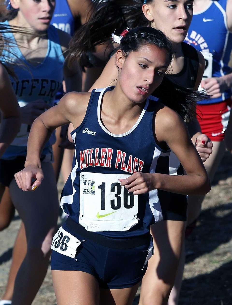 Miller Place's Tiana Guevara came in 14th place
