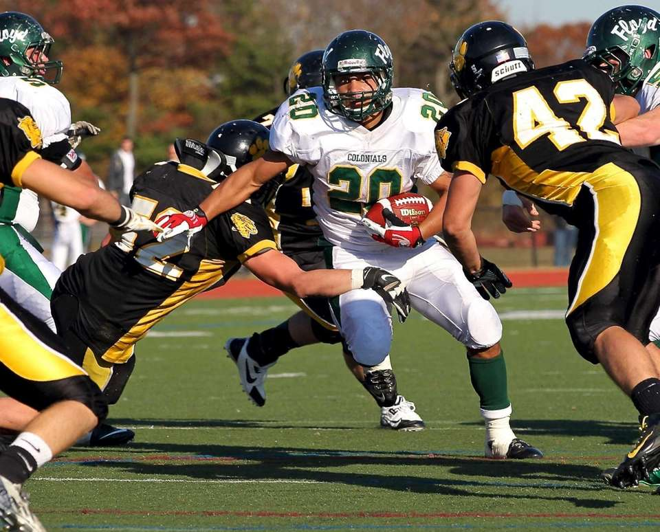William Floyd running back Chris Faison rushes against