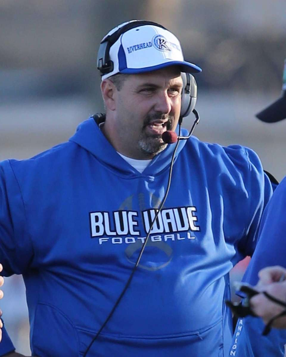 Riverhead head coach Leif Shay is seen during