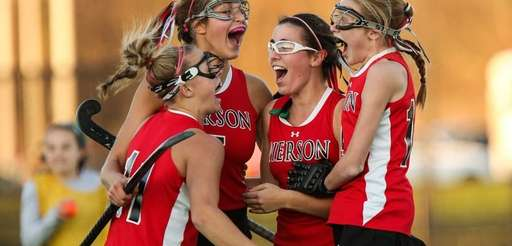 Pierson/Bridgehampton celebrate after defeating Whitney Point for the