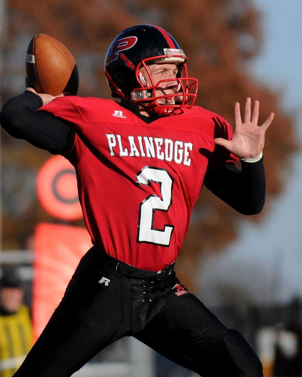 Plainedge Nick Frenger throws a pass during the
